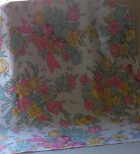 VINTAGE RETRO 60s/70s FLOWER POWER  PIECE OF FABRIC pinks/lilacs