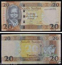 South Sudan Banknote 20 Pounds 2015 UNC