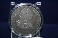 Spanien 8 Reali 1791 Carolus IV  Versilber