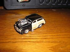 1/64 Funline Muscle Machines Blown Pro Street 1940's Ford Woody Wagon Black
