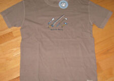 Mens Size S LIFE IS GOOD Action Hero Fish Golf BBQ Hammer S/S Tee Shirt NWT