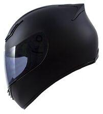 New DOT Motorcycle Helmet Full Face Duke Legacy Matte Black + Free Tinted Visor
