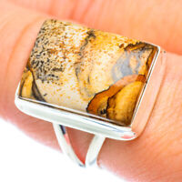 Picture Jasper 925 Sterling Silver Ring Size 8.75 Ana Co Jewelry R54106