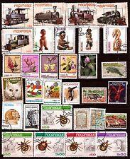 MOZAMBIQUE  31T: sculpture sur bois,fleurs,insectes,locomotives,385T6