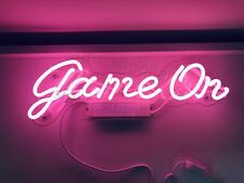 New Game On Bar Light Lamp Artwork Handmade Acrylic Neon Sign 14""