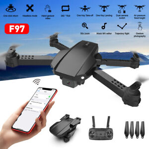 Mini Drone with Wide Angle 4K WiFi FPV Camera RC Foldable Quadcopter Toy Gift