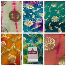 Half Metre Gold Floral Two Tone Pure Silk Banarsi indian Brocade Fabric MP1330