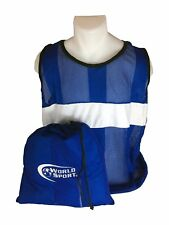 World Sport PRO SERIES Scrimmage Vests Set of 12 with Carry Bag bibs Blue