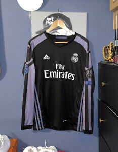Real Madrid UEFA Ronaldo 2016 Commemorative Long Sleeve Jersey Size Medium