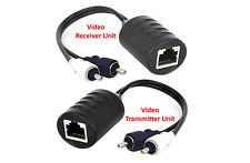 Composite RCA Video Extender Over Cat5 Cat5E Cat6 Cable - Max 250FT