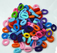 100X Girls Toddler Kids Elastic Hair Bands Bobbles Bows Low Stretch 2-3CM