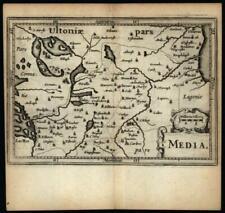 Meath Ireland Media 1639 Blaeu engraved detailed miniature map