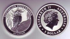 Silbermünze 1 OZ Australien Kookaburra 1 Dollar 2014