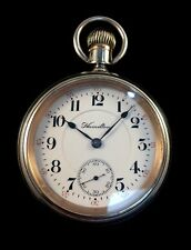 Hamilton 21J 940 18s Railroad Pocket watch Sterling Gold Engraved Case Extra Fin