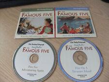 TELEGRAPH ENID BLYTON FAMOUS FIVE TREASURE ISLAND/GO ADVENTURING AGAIN PROMO CDS