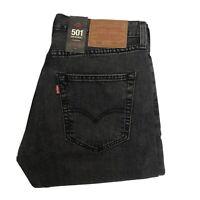 LEVIS 501 Mens Dark Grey Denim Jeans W32 L32 Brand New Straight Leg (L202)