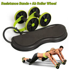 Abdominal Muscle Double Wheel AB Roller Home Fitness Exercise Strength Gym US