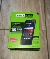 """SIMPLE MOBILE 4G LTE ZTE ZFIVE G - 5"""" TOUCHSCREEN NO CONTRACT - SEALED - NT 4326"""