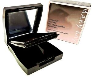 NEW MARY KAY MAGNETIC BLACK MINI COMPACT WITH MIRROR UNFILLED