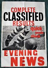 Football Footwork - Large Vintage Poster by Britain's Evening News