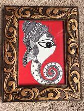 Ganesha Madhubani Mithila handmade painting FRAMED/ Home decor
