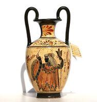 Greek Ceramic AMPHORA Jar Vase Pot Painting Goddess Athena God Zeus