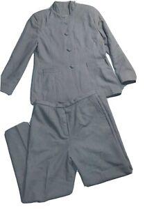 Womans Custom Made Business Pants Suit  Matching Purse Career Work Blazer SZ L ?
