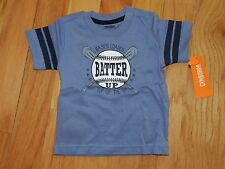 NWT Gymboree Boys Blue Bases Loaded Batter Up Top of the 9th Shirt 6-12 months