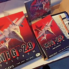 MIG-29 Fulcrum Air Combat Simulation PC Game Windows 95 98 NT Barely Used Great