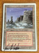 Magic the Gathering Revised Plateau MP  Artist Autographed