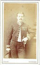 Photo cdv : Dupont ; Militaire ou officier de l'administration Belge , vers 1875