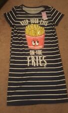 Girl's Justice French fry nightshirt Sz 12 NWT (LAST ONE)