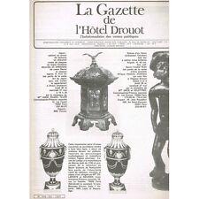 La GAZETTE de l'Hôtel DROUOT 1983 N°20 Statuette IVOIRE Japon XIXè Montres XVIII