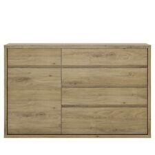 1 Door 5 Drawer Cupboard Living Room Furnicture, Shetland Oak Finish