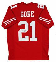 49ers Frank Gore Authentic Signed Red Jersey Autographed BAS Witnessed