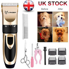Pet Dog Hair Clipper Grooming Trimmer Kits Cordless Low Noise Quiet E-Shaver Set