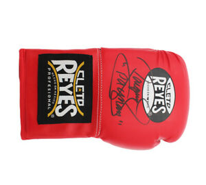 """Manny Pacquiao Signed Reyes Red Boxing Glove - with """"Pac Man"""" Inscription"""