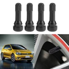 4x Black TR438 Snap-in Rubber Tubeless Tire Car Wheel Tyre Valves with Dust Caps