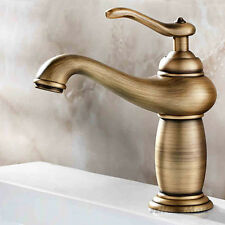 Antique Brass Single Lever Sink Basin Mixer Hot Cold Faucet Bathroom Taps NEW