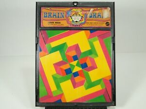 Vintage 1969 BRAIN DRAIN - SQUARE WHERE, Psychedelic Puzzle, MATTEL, w/ frame