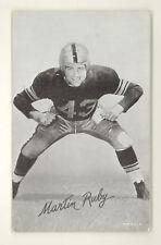 MARTIN RUBY 1940s EXHIBIT FOOTBALL CARD VG-EX+ NO CREASES (141)