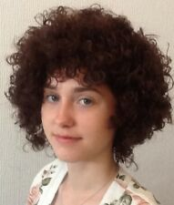 BROWN AFRO STYLE FEMALE BEAUTIFUL FANCY DRESS WIG. UK DISPATCH