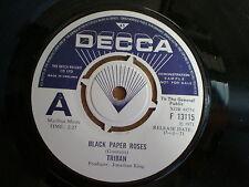 TRIBAN Black Paper Roses UK DECCA DEM0 45 1971 Fragile FOLK POP-SIKE