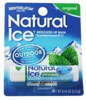 Mentholatum Natural Ice Lip Balm Original SPF 15 1 Each (Pack of 6)