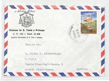 SAO TOME & PRINCIPE Cover MISSIONARY Air Mail MIVA Austria 1986 CA253