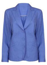 Cappotti e giacche da donna blu lino bottone