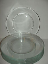 Clear Glass Dinner Plates  9.5 in. Set Of 10