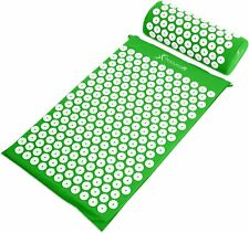 Acupressure Mat and Pillow Set for Back/Neck Pain Relief and Muscle Re