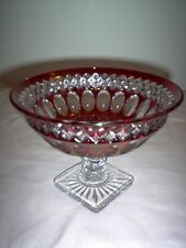 """Westmoreland Wakefield 5"""" Footed Compote w/Square Base -  NICE - MINT"""