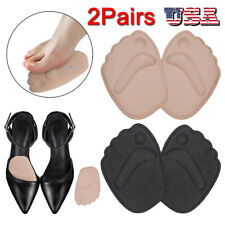 4x Silicone Gel Cushion Insoles High Heel Inserts Pads Shoe Front Pad Foot Care~